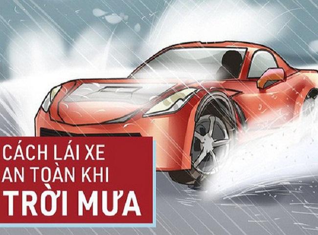 quy tắc giúp lái xe ô tô trời mưa