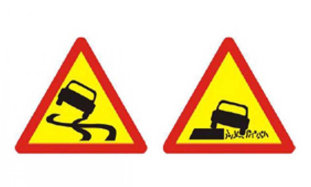 Đường trơn trượt và lề đường nguy hiểm