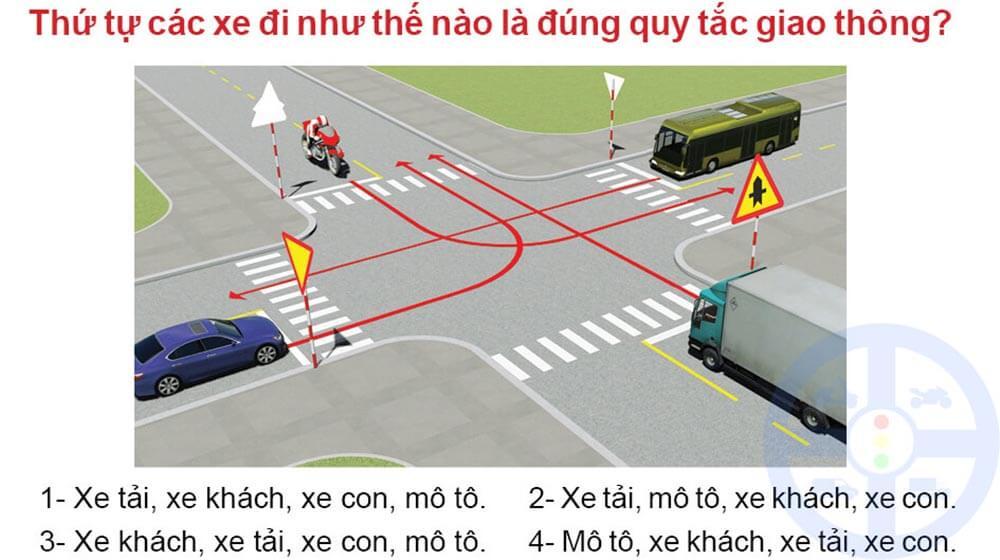 Mẹo thi lý thuyết bằng lái xe A1 phần sa hình